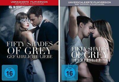 2 DVDs * FIFTY SHADES OF GREY - FILM 2 + 3 IM SET # NEU OVP +