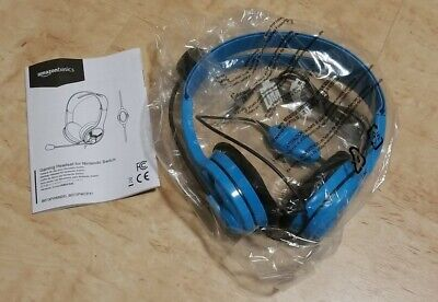Wired Stereo Gaming Headset for Nintendo Switch Blue
