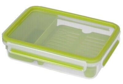 2 x EMSA 800298 CLIP&GO Lunchbox Brotdose Frühstücksbox 1,2L Grün/Transparent