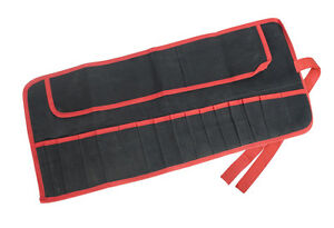 15 Pocket TOOL ROLL With Tie Straps Water Resistant Store Carry Tools DIY TRADE