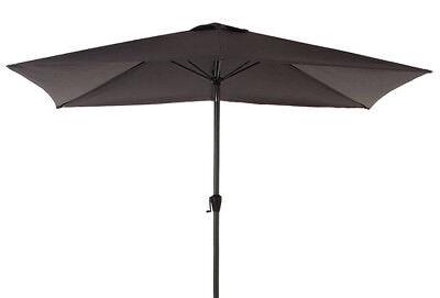 Parasol rectangulaire ardoise en aluminium, acier et polyester 300 x 200 x 250cm