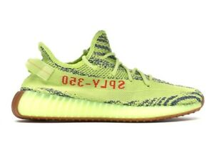 ***** Adidas Yeezy Boost 350 V2 Semi Frozen Yellow US 9 New ****
