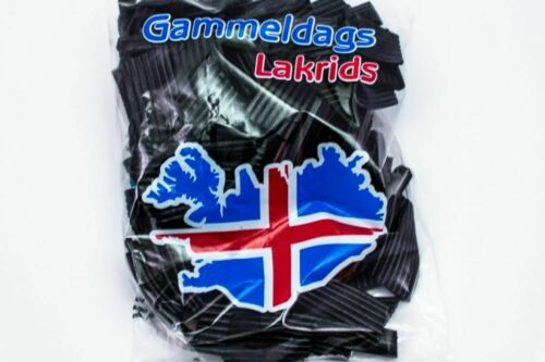 4 bags of Gammeldags lakrids - Icelandic Candy licorice - Made in Iceland(1,4kg)