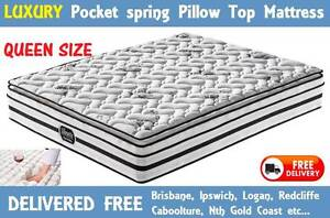 BRAND NEW QUEEN Size LUXURY Pocket Coil Mattress DELIVERED FREE New Farm Brisbane North East Preview