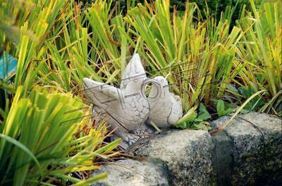 Decoración de Jardín Palomas Terraza Piedra Figuras Estatua Escultura Pájaro 496