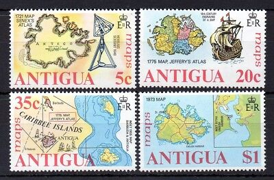 Antigua 1975 Maps of Antigua MNH set S.G. 439-442
