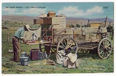 Chuck Wagon, Cowboy's Kitchen c1940's Cowboy Cook