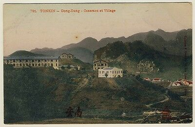 Indo-China / Vietnam TONKIN / Dong-Dang / Barracks & Village * Vintage 1910s PC