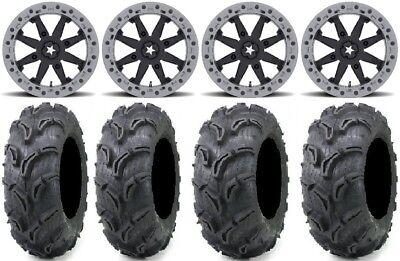 "MSA Lok2 Beadlock 14"" UTV Wheels 28"" Zilla Tires Polaris RZR Turbo S / RS1"