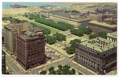 Cleveland Ohio c1950's Civic Center and Mall, downtown business (Cleveland Mall)