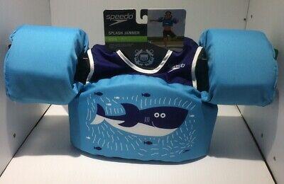 Begin to Swim Printed Neoprene Swim Vest Blue Porpoise//Fish Speedo Kids/' UPF 50