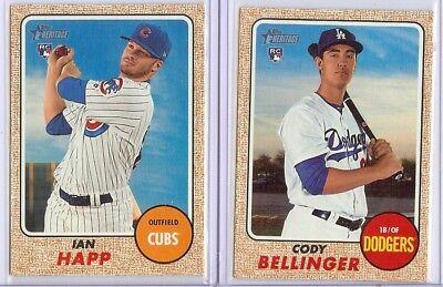 2017 Topps Heritage High base set 501-700 Bellinger Happ rookie cards