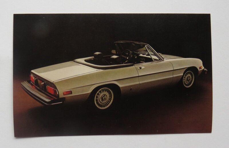 1981 Alfa Romeo Spider Veloce 2000 Postcard Vintage Original