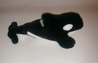 Sea World Shamu Killer Whale Orca Black & White Plush Stuffed Animal - Whale Toy