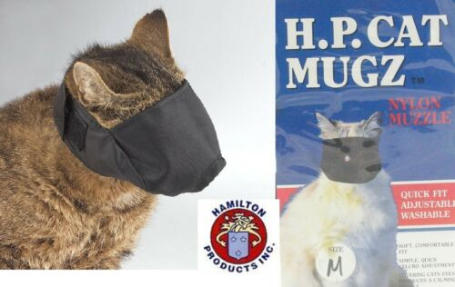 Hamilton HP MUGZ Easy&Quick-Fit Comfort CAT MUZZLE*MEDIUM ADJUSTABLE Grooming