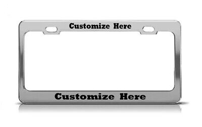 Custom Made Personalized CHROME License Plate Frame ROCKWELL Tag Cover Metal - Personalized License Plate Frame