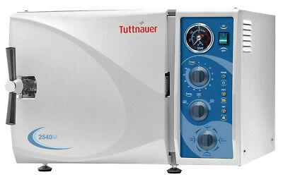 New Tuttnauer 2540m Manual Steam Autoclave Dental Medical Sterilizer