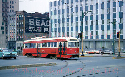 Pittsburgh PAT Electric PCC Streetcar #1624 Original Slide Ft. Pitt & Smithfield