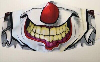 Stoffmaske, Mundschutzmaske,Nasenschutz, Behelfsmaske,Trend 2021,Horror, Clown