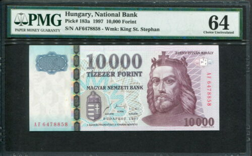 Hungary 1997, 10000 Forint, P183a, PMG 64 UNC