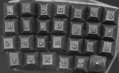 Young Brothers Steel Stamps Machine Made 116 Letters Hand Stamps