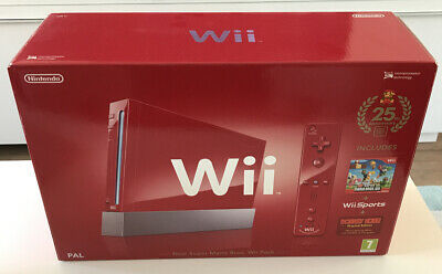 Nintendo Wii 25th Anniversary New Super Mario Bros. Wii Pack - Red Console