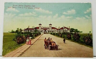 Chicago South Shore Country Club Lake Shore 67th to 71st Street 1911 Postcard I5