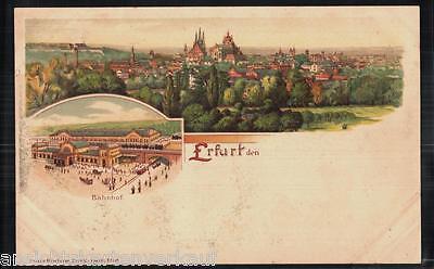 206.093 Erfurt, Litho, Bahnhof, Panorama