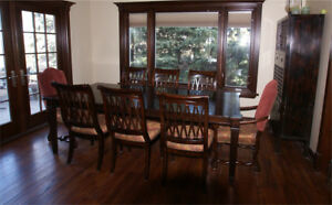 "McArthur - dining table 72"" - 2 Leaves- to 112"" - 8 chairs"