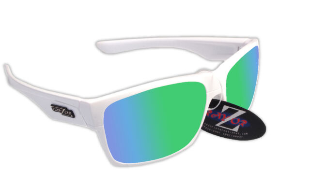 Rayzor Uv400 424 White Framed Green Mirrored Lens Cricket Sunglasses ...