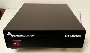 SAMLEX SEC-1223BBM BBM 12 vdc 25 amp DC power supply w/ battery back up sec-1223