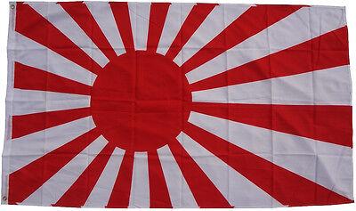 XXL Flagge Japan Krieg 90 x 150 cm mit 2 Ösen Kriegsflagge Fahne Rising Sun