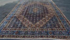 9 x 12 High KPSI Fine Authentic Antique Persian Mood Hand Knotted Wool Area Rug