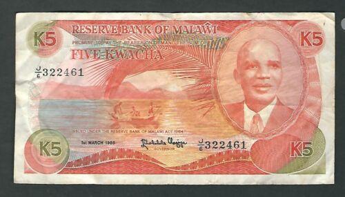 Kenya - 5 Kwacha, 1986