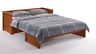 Night & Day Murphy Cube Queen cabinet bed w mattress, cherry finish. FREE S/H