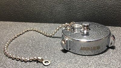 New Fire Truck Chrome Brass Discharge Caps 2 12 Nh-nst W Beaded Chain Tether