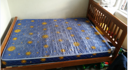 Queen Cot Frame + Free Bed Mattress