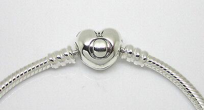 Authentic Pandora Sterling Silver Heart Clasp Bracelet 590719-17cm