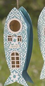 Casa-del-pajaro-Madera-Altura-30-cm-Caja-nido-para-aves-Nest-Pescado-azul