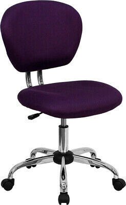 Mid-back Purple Mesh Swivel Office Chair With Chrome Base - Office Desk Chair