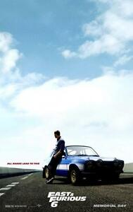 Fast and Furious 6 original Teaser movie poster