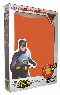 """Ideal CAPTAIN ACTION BATMAN TV Box for 12"""" Action Figure Costume"""