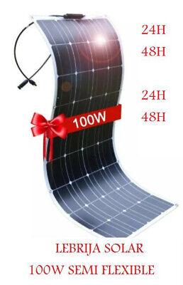 100W PANEL SOLAR SEMI FLEXIBLE PLACA 12V MONOCRISTALINO 48H 50W 120W 100W...