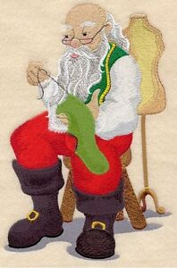 Mr. Claus the Tailor Embroidered Block St. John's Newfoundland image 1