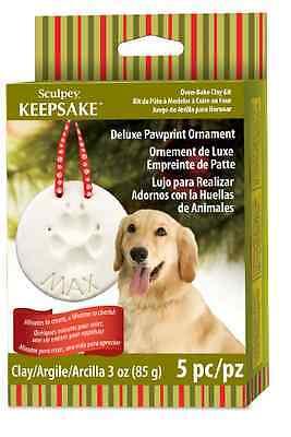 SCULPEY Deluxe KEEPSAKE ORNAMENT PAW PRINT Pet Clay Kit 5 pc Set