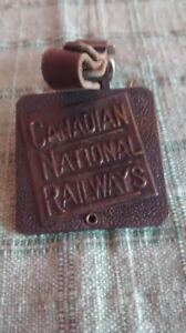 Vintage Canadian Railway luggage tag,