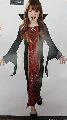 Kostüm VAMPIR  USA 104-110-116 GOTHIC VAMPIRE Mädchen Karneval Fasching  Horror  (Kleine Mädchen Vampir Kostüme)