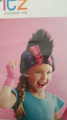 ESENPERÜCKE PUNKER Karneval Fasching Mädchen USA bunt (Mohawk Perücke)