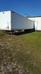 48' trailer and 30' storage transport trailer for sale