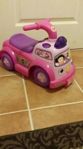 Little People Ride on Pink car